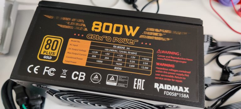 RAIDMAX COBRA 800W RX-800AE-M